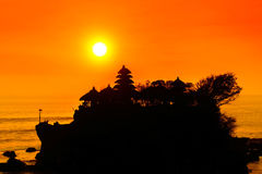 Sunset at Tanah Lot, Bali, Indonesia. The sunset at Tanah Lot, Bali, Indonesia Stock Photo