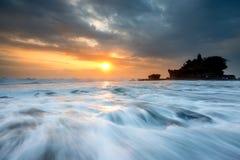 Sunset at Tanah Lot, Bali Royalty Free Stock Images