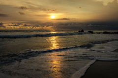 Sunset at Tanah Lot Beach, Bali, Indonesia Stock Image