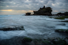 Sunset at Tanah lot temple. Bali Indonesia Stock Image