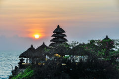 Sunset at Tanah Lot temple in Bali, Indonesia Stock Image