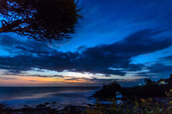 sunset tanah partii Fotografia Stock