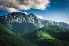 Sunset in the Tatra Mountains in summer Royalty Free Stock Image