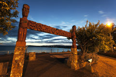 Sunset in Taupo, New Zealand Royalty Free Stock Photos