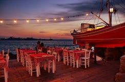 Sunset at tavern Stock Image