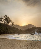 Sunset in Tayrona, Colombia Stock Photo