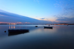 Sunset on the Tejo river. Stock Image