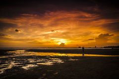 Sunset at Teluk Sisek Stock Images