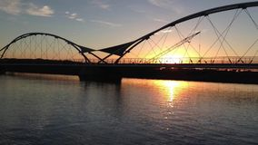 Sunset Tempe Town Lake, near Phoenix,AZ,USA stock video