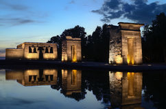 Sunset at Temple of Debod, Madrid Stock Image