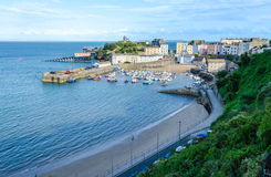 Sunset on Tenby, Pembrokeshire – Wales, United Kingdom Stock Images