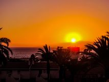 Sunset in Tenerife Royalty Free Stock Images