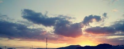 Sunset tenerife canary island! beautifull. Beautiful sunset in Tenerife, Canary Islands. the Paradise is here. precioso tardecer en tenerife islas canarias, el royalty free stock image