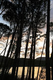 Sunset at the Terradets reservoir, Catalan Pyrenees, Spain Stock Photo