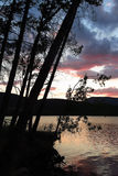 Sunset at the Terradets reservoir, Catalan Pyrenees, Spain Royalty Free Stock Image