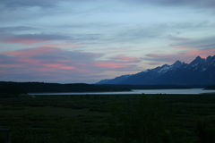 Sunset in the Tetons Royalty Free Stock Image