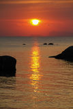Sunset at Thai coast Royalty Free Stock Photo
