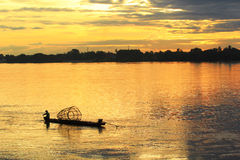 Sunset of Thai River Stock Photo