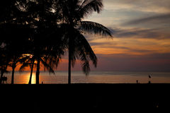 Sunset in Thailand Stock Image