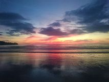 Sunset in Thailand, clouds in the sky, Phuket royalty free stock photography