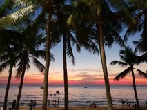 Sunset Thailand Pattaya royalty free stock image