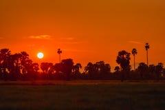 Sunset in Thailand Stock Photo