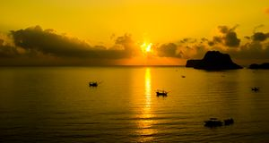 Sunset at Thailand Stock Photography