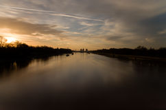 Sunset on Thames river Royalty Free Stock Image
