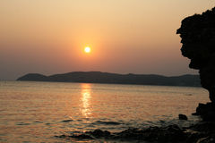 Sunset in Thassos Royalty Free Stock Photo
