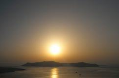 Sunset in Thira. Stock Image
