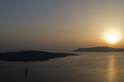 Sunset in Thira. Stock Image
