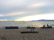 Sunset on Third Beach, Stanley Park, Vancouver, British Columbia, Canada Stock Photo