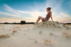 Sunset thoughts Royalty Free Stock Photos