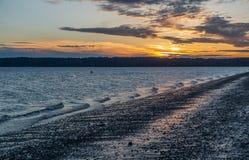Sunset At Three Tree Point stock photography