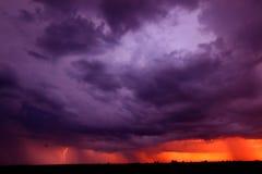 Sunset Thunderstorm Indiana Royalty Free Stock Photography