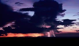 Sunset Thunderstorm stock photography