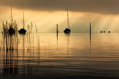 Sunset at Thunersee, Thun, Switzerland Stock Images
