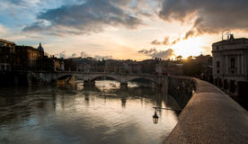 Sunset by Tiber Royalty Free Stock Image