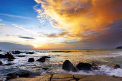 Sunset tide Stock Images