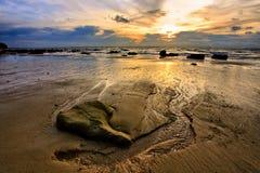 Sunset tide Stock Photos