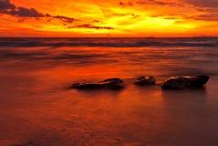 Sunset tide Royalty Free Stock Photos