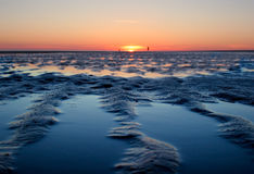 Sunset on tidelands Royalty Free Stock Photography