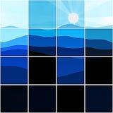 Sunset tiles Stock Photo