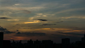 Sunset time Beautiful sky with golden cloud time lapse with copy space stock video footage