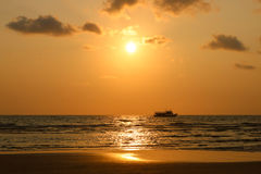 Sunset time. Boat tour at sunset. Seascape of sunset at Koh Chan. G island, Trat Thailand Stock Photos