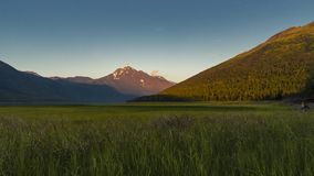 Sunset time lapse with mountains over Euklitna lake in Alaska, Anchorage. Video taken in June 2016 stock footage