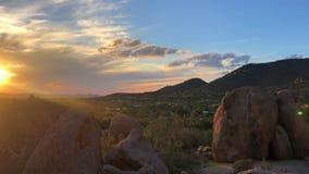 Sunset time lapse video footage of North Scottsdale. Desert landscape stock video