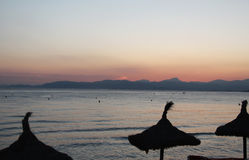 Sunset time Mallorca. Beautiful summer sunset in Mallorca Royalty Free Stock Photography
