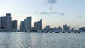 Sunset time miami city downtown panorama 4k usa. Usa sunset time miami city downtown panorama 4k stock video footage