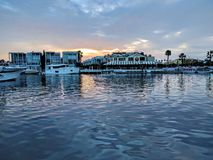 Sunset time in Newport Beach Stock Photos